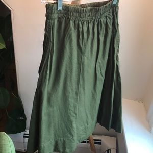 Madewell Skirts - MADEWELL DRAWSTRING CIRCLE SKIRT